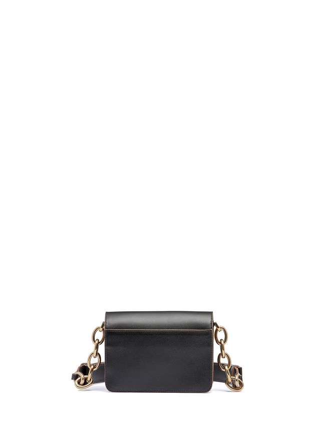 Marni MINI TRUNK bag in calfskin with chain Woman