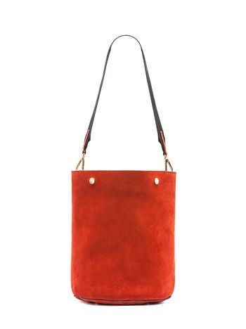 Marni BUCKET bag in reverse calfskin Woman