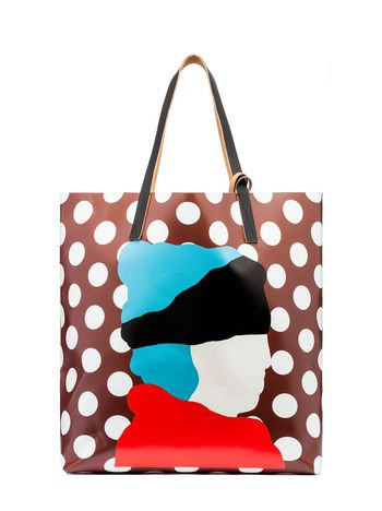 Marni SHOPPING bag in PVC with print by Ekta Woman