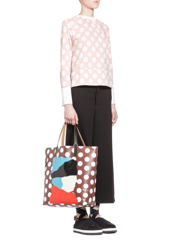Marni SHOPPING bag in PVC with print by Ekta Woman - 4