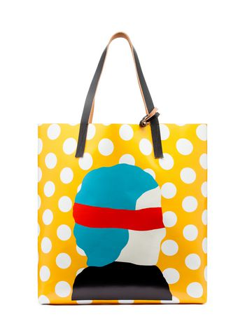 Marni SHOPPER in PVC Ekta print Woman
