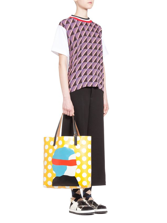 Marni SHOPPER in PVC Ekta print Woman - 4