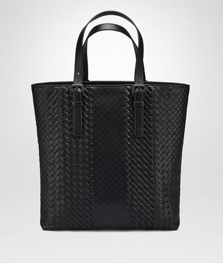 AQUATRE BAG IN NERO INTRECCIO IMPERATORE CALF
