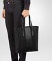 BOTTEGA VENETA AQUATRE BAG IN NERO INTRECCIO IMPERATORE CALF Tote Bag U ap