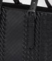 BOTTEGA VENETA AQUATRE TASCHE AUS INTRECCIO IMPERATORE KALBSLEDER IN NERO Shopper U ep
