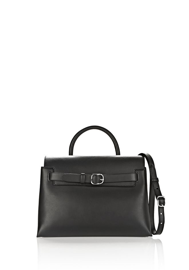 ALEXANDER WANG sacs-classiques ATTICA CHAIN CROSSBODY IN BLACK WITH RHODIUM