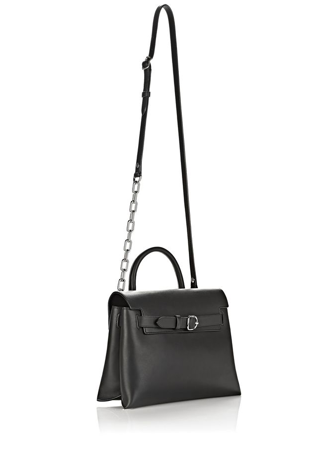 ALEXANDER WANG ATTICA CHAIN CROSSBODY IN BLACK WITH RHODIUM MESSENGER BAG Adult 12_n_d