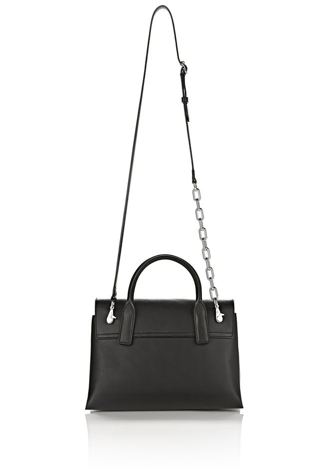 ALEXANDER WANG ATTICA CHAIN CROSSBODY IN BLACK WITH RHODIUM MESSENGER BAG Adult 12_n_e