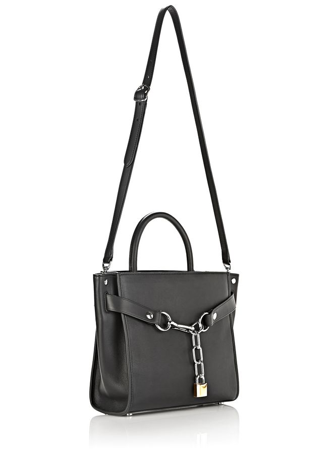 ALEXANDER WANG ATTICA CHAIN SATCHEL IN BLACK WITH RHODIUM Shoulder bag Adult 12_n_e