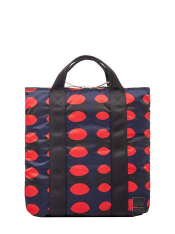 Marni PORTER backpack-shopper in printed nylon Man