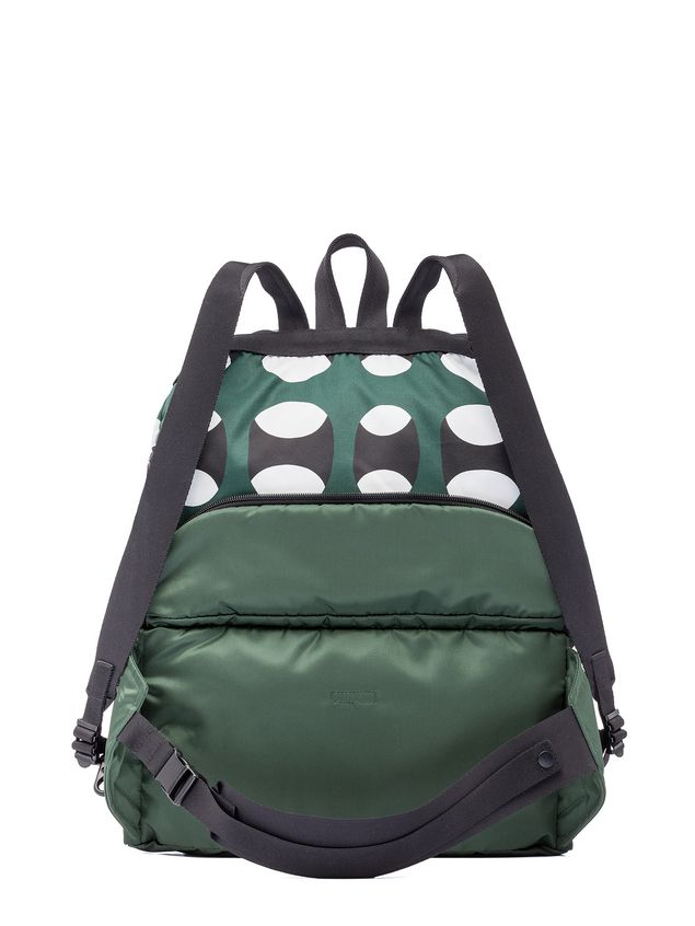 Printed Bag Zip Marni Backpack Multi Nylon Porter Bum In qxRvYwnIF