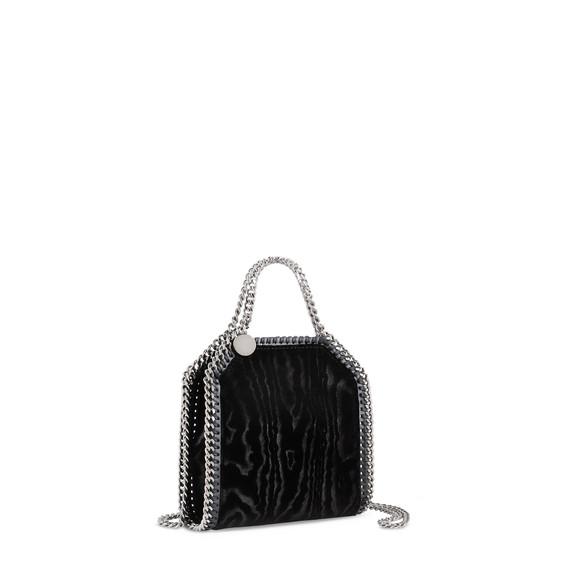 Black Falabella Velvet Moiré Tiny Tote