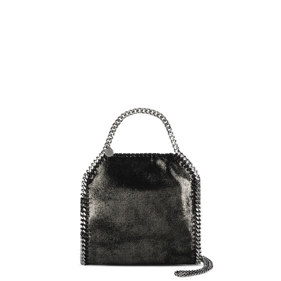 Ruthenium Falabella Shiny Dotted Chamois Mini Tote