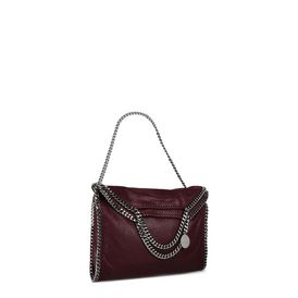 Plum Falabella Shaggy Deer Fold Over Tote