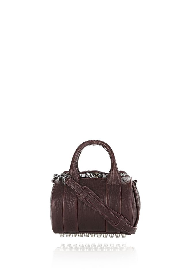 ALEXANDER WANG Shoulder bags Women MINI ROCKIE IN PEBBLED BEET WITH RHODIUM