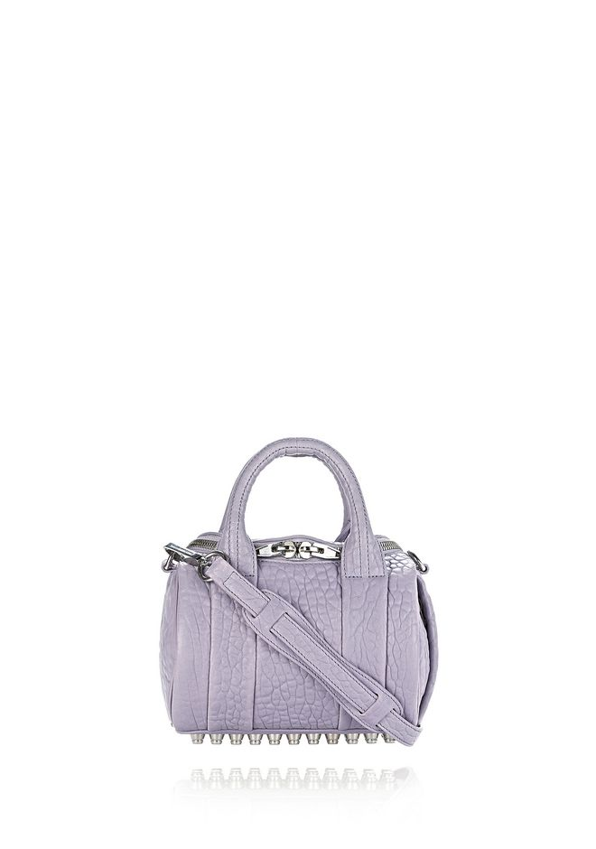 ALEXANDER WANG Shoulder bags MINI ROCKIE IN PEBBLED LAVENDER WITH RHODIUM