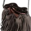 STELLA McCARTNEY Coffee Falabella Fringed Bucket Bag  Falabella Shoulder bags D e