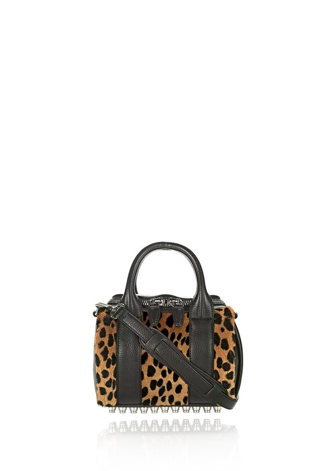 ALEXANDER WANG Shoulder bags MINI ROCKIE IN PRINTED CHEETAH WITH RHODIUM