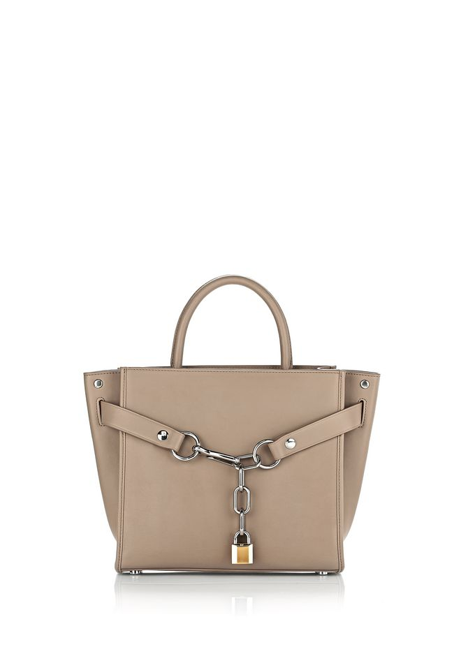 ALEXANDER WANG Shoulder bags Women ATTICA CHAIN SATCHEL IN LIGHT NUDE WITH RHODIUM