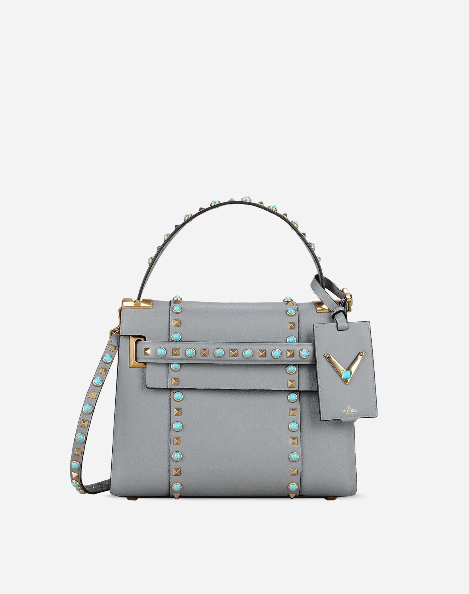 VALENTINO Textured leather Logo Contrasting applications Basic solid colour Magnetic closure Internal zip pocket  45312926gk