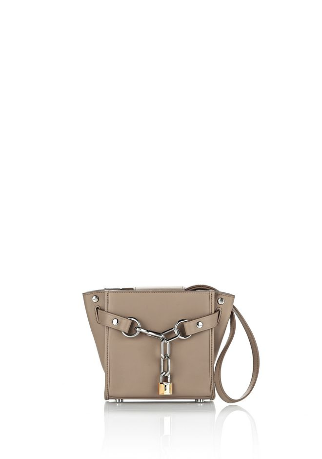 ALEXANDER WANG Shoulder bags Women  ATTICA MINI CHAIN SATCHEL IN LIGHT NUDE WITH RHODIUM