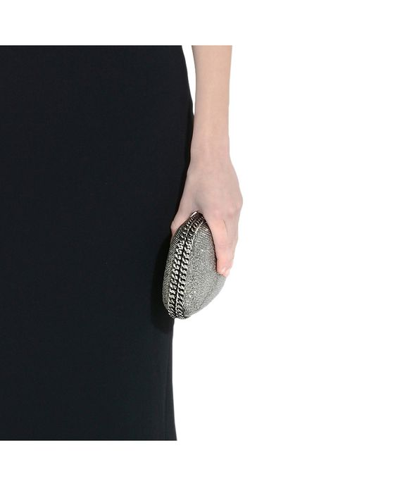 STELLA McCARTNEY Falabella Crystal Stones Clutch Bag Clutch Bag D p