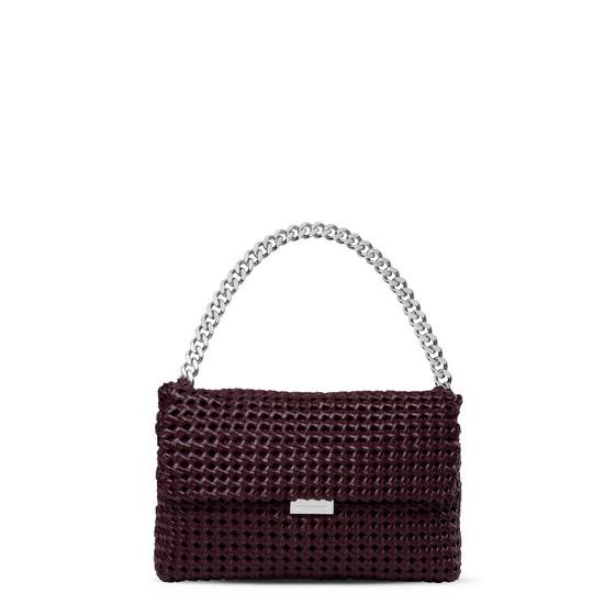 Burgundy Becks Weaved Shoulder Bag