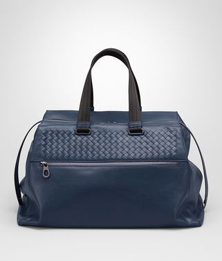 DUFFEL BAG IN PACIFIC CALF, INTRECCIATO DETAILS