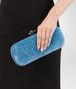 BOTTEGA VENETA STRETCH KNOT IN PEACOCK EMBROIDERED VELVET WITH AYERS DETAILS Clutch Woman ap