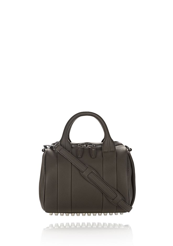 ALEXANDER WANG MESSENGER BAGS ROCKIE IN MATTE GRASS WITH RHODIUM
