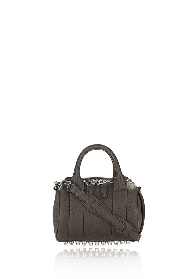 ALEXANDER WANG MESSENGER BAGS MINI ROCKIE IN MATTE GRASS WITH RHODIUM