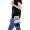 STELLA McCARTNEY Silver Falabella Metallic Alter Snake Bucket Bag Falabella Shoulder bags D a