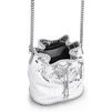 STELLA McCARTNEY Silver Falabella Metallic Alter Snake Bucket Bag Falabella Shoulder bags D e