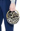 STELLA McCARTNEY Alter Fur Leopard Shoulder Bag Clutch Bag D a