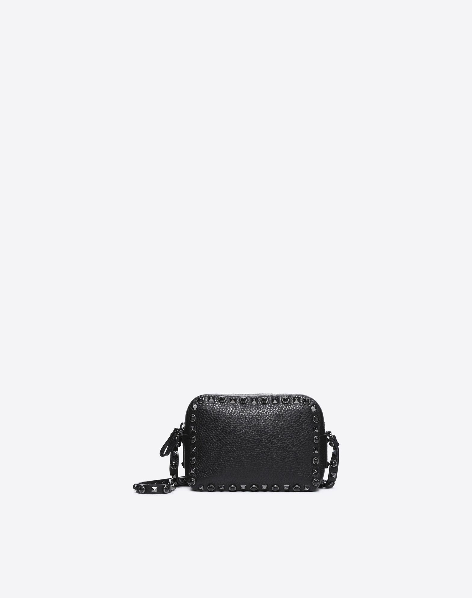 VALENTINO GARAVANI Rockstud Rolling Noir Cross Body Bag CROSS BODY BAG D f