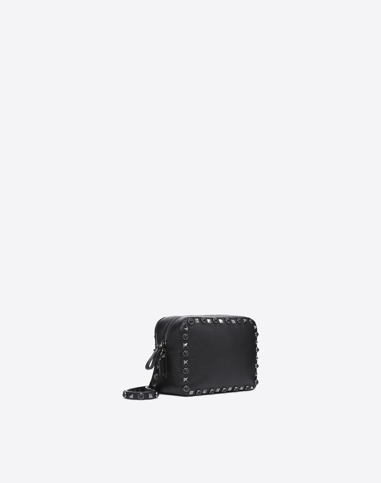 VALENTINO GARAVANI Rockstud Rolling Noir Cross Body Bag CROSS BODY BAG D r