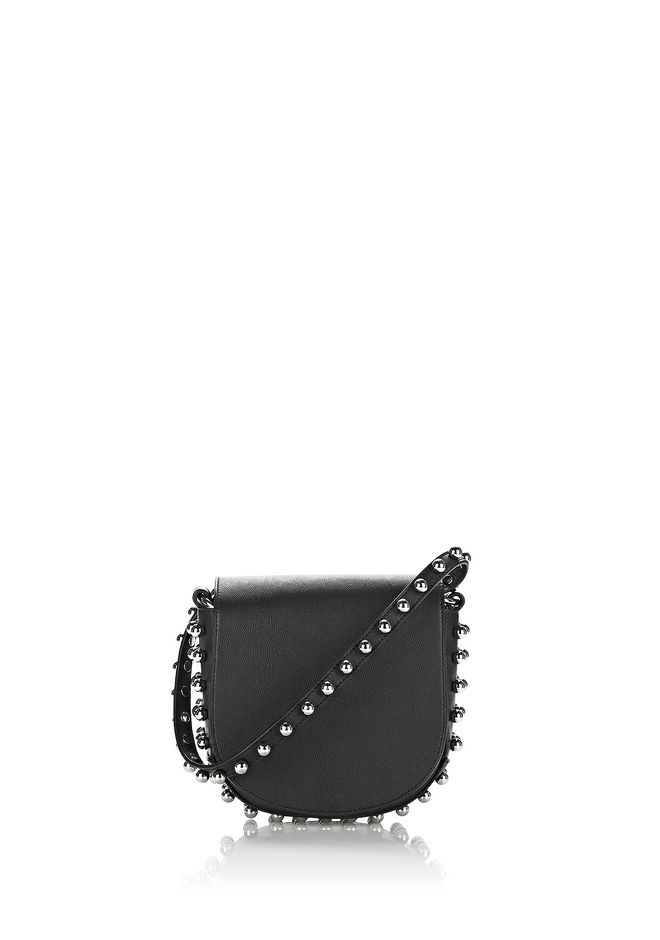 ALEXANDER WANG Shoulder bags Women MINI LIA IN BLACK WITH BALL STUDS