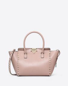 VALENTINO GARAVANI HANDBAG D Rockstud Small Double Handle Bag f