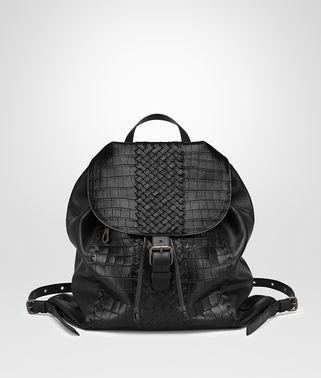 BACKPACK IN NERO CROCODILE CLUB