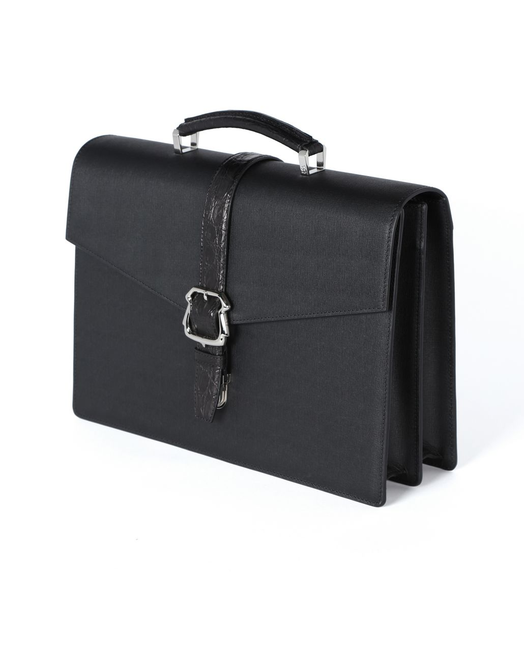 BRIONI Calfskin briefcase with buckle Business bag Man e