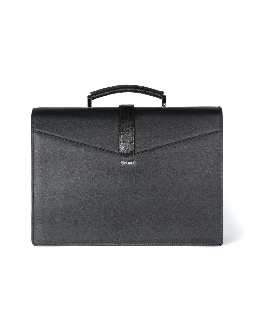 BRIONI Calfskin briefcase with buckle Business bag Man r
