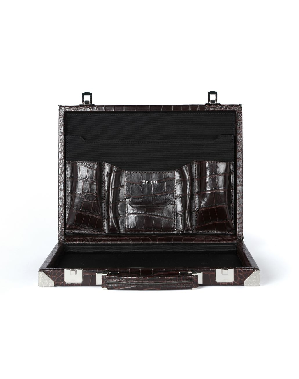 BRIONI Ultra-thin Hard Case in crocodile Business bag Man d