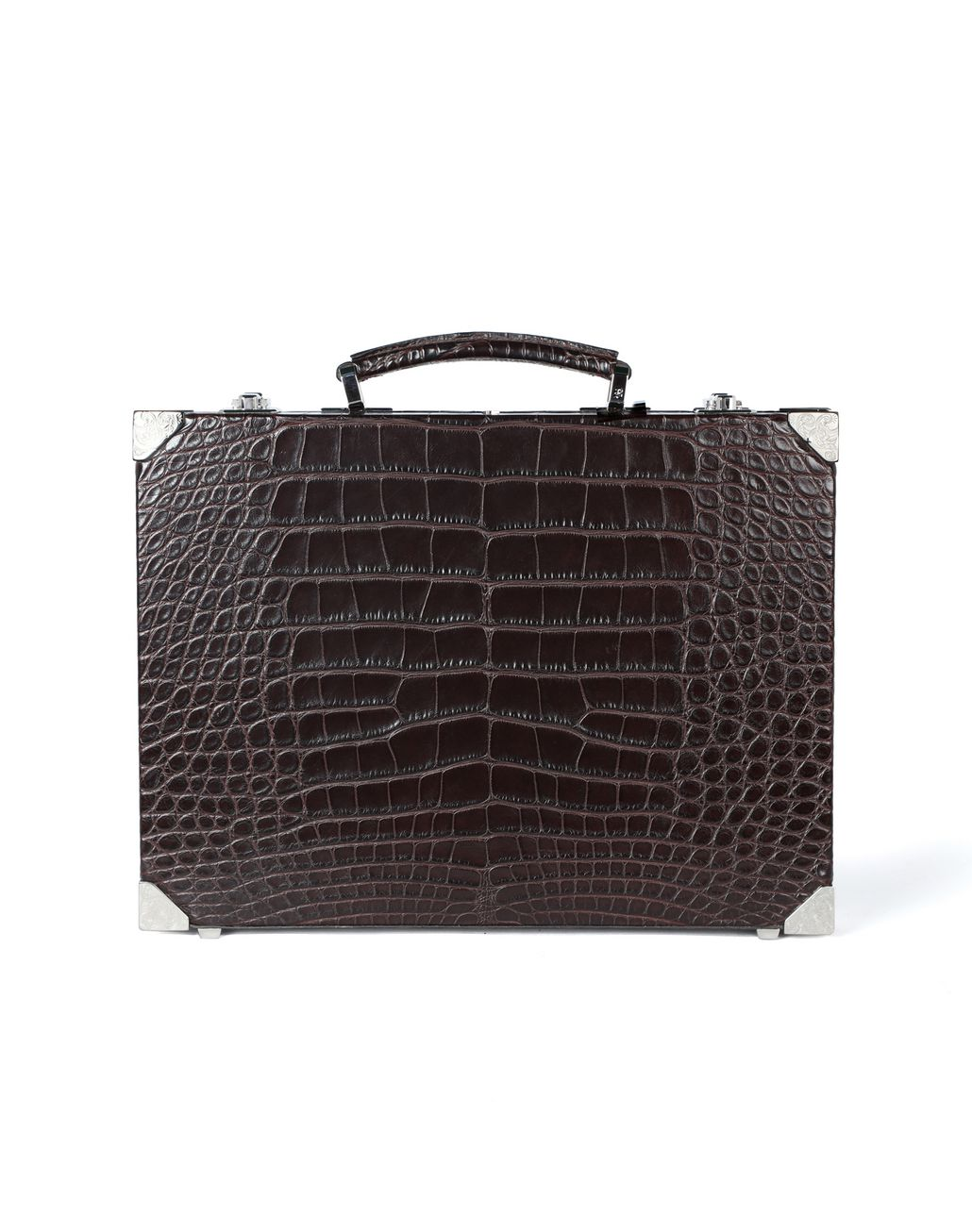 BRIONI Ultra-thin Hard Case in crocodile Business bag [*** pickupInStoreShippingNotGuaranteed_info ***] f