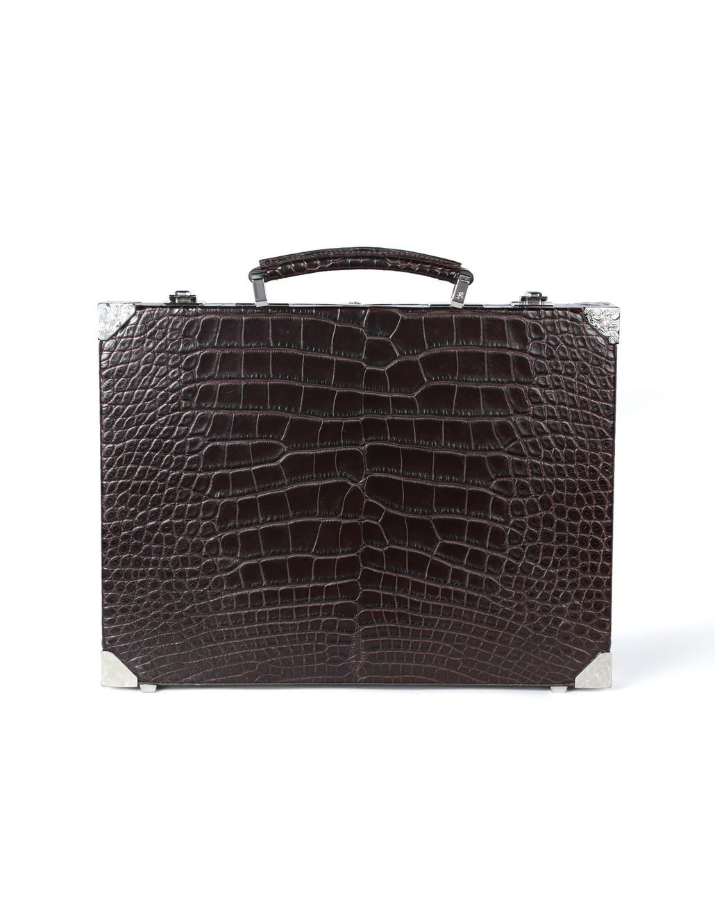 BRIONI Ultra-thin Hard Case in crocodile Business bag [*** pickupInStoreShippingNotGuaranteed_info ***] r