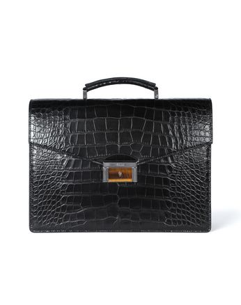 Briefcase classica in coccodrillo