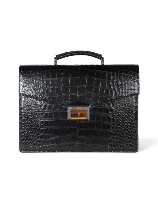 Classic briefcase in crocodile