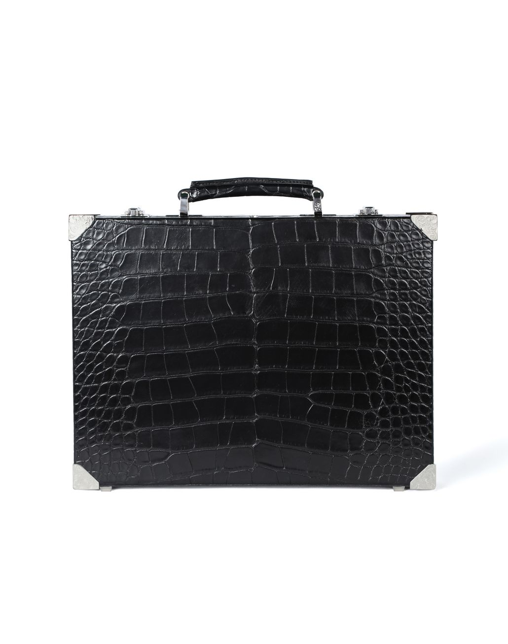 BRIONI Attaché case ultra-fin en crocodile Serviette Homme f