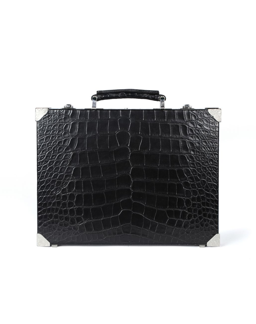 BRIONI Attaché case ultra-fin en crocodile Serviette Homme r