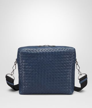 MESSENGER BAG IN PACIFIC INTRECCIATO CALF AND NAPPA