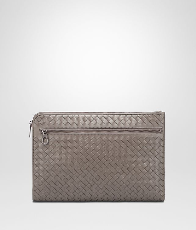 BOTTEGA VENETA DOCUMENT CASE IN STEEL INTRECCIATO VN Small bag U fp